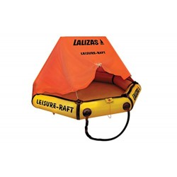 wellenshop Lalizas Life Island with or without Roof Self-Inflating 4 People with Carry Bag Orange Yellow Life Raft Boat Safety A