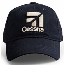 RED CANOE Cessna White Logo Baseball Cap - Navy