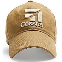 RED CANOE Cessna Cream Logo Baseball Cap - Tan