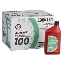 Aeroshell oil 100SAE grade aircraft olio minerale, misura 50–12quart/custodia