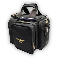 """Design4Pilots - Borsa da pilota """"Crosscountry"""" per voli e gite di giorno, colore: nero"""