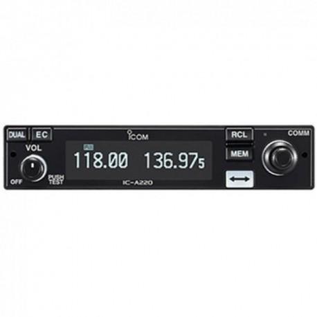 Icom ic-a220t Tso panel Mount Airband VHF Transceiver