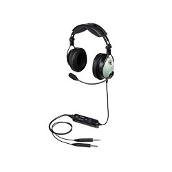 David Clark DC ONE-X headphones: double aviation jacks - active ENC Hybrid technology - straight cable